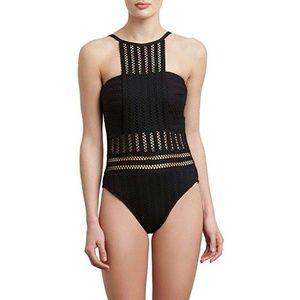 Kenneth Cole Women's Bandeau One Piece Swimsuit